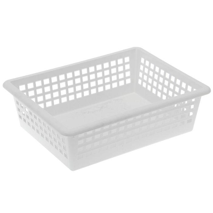 Корзинка универсальная 31×40×13 см, цвет белый