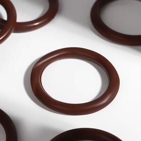 Кольцо для карниза, d = 37/48 мм, цвет орех
