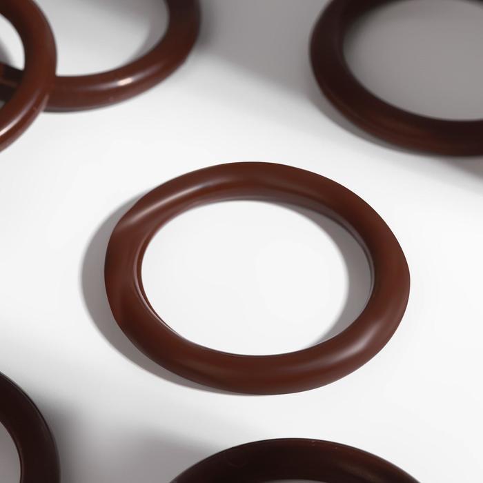Кольцо для крепления штор, d=28мм, цвет орех