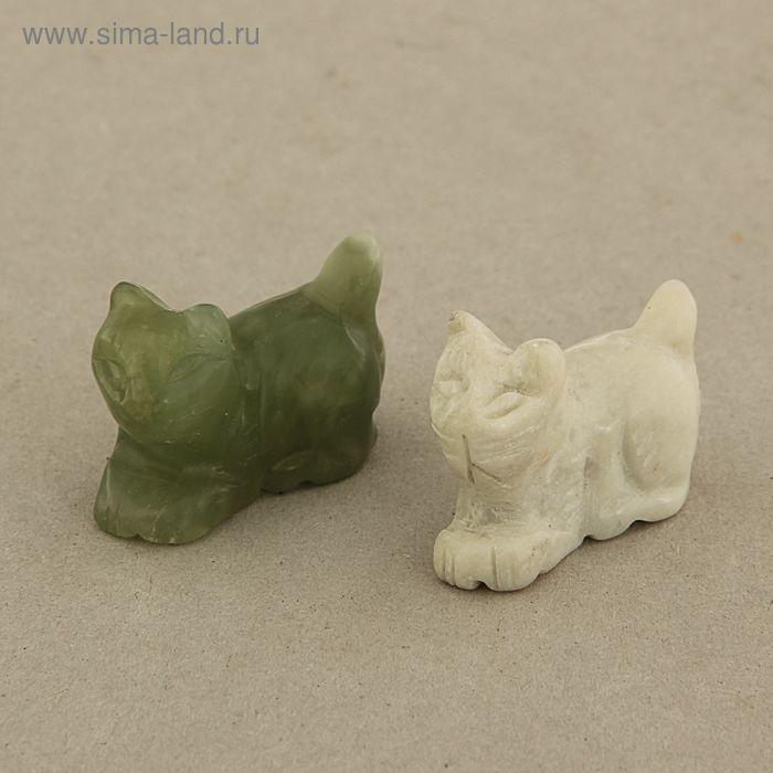 Сувенир Кошка, нефрит