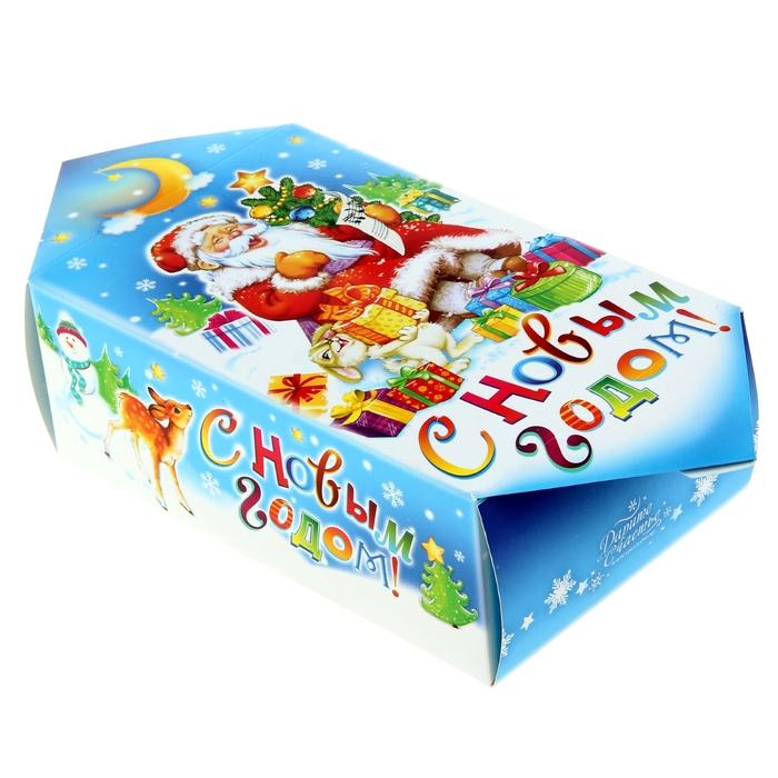 """Сборная коробка-конфета """"Дед мороз"""""""