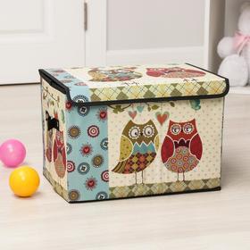 Короб для хранения 40х25х25 см 'Влюбленные совушки', большой Ош