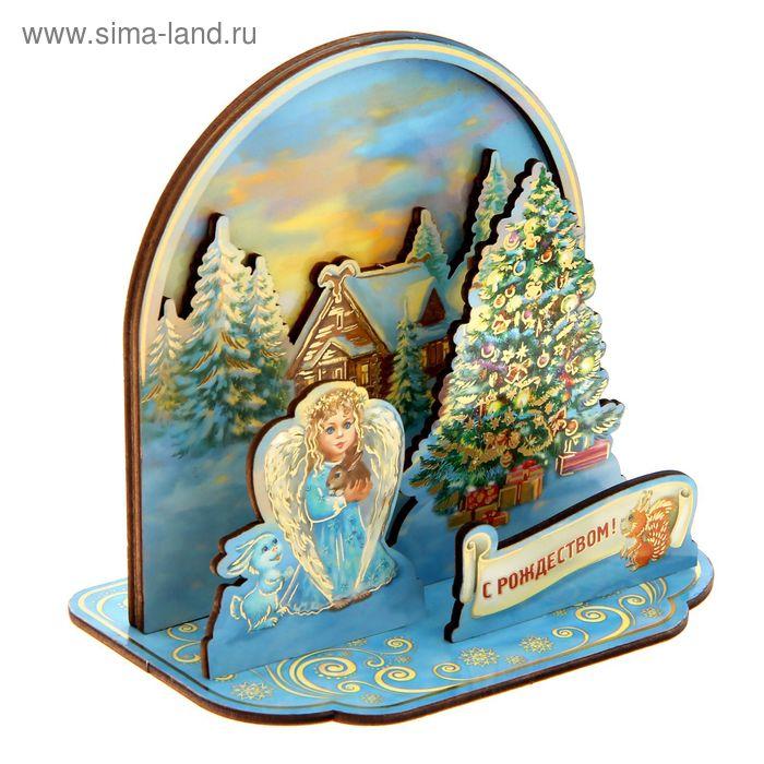 """Настольный сувенир, """"Ангел. С Рождеством!"""""""