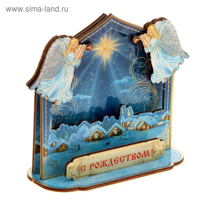 """Настольный сувенир """"Рождественская ночь"""""""