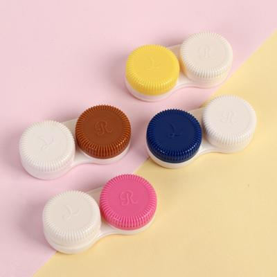 Контейнер для контактных линз, ребристый, цвет МИКС