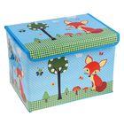 """Короб для хранения 40×26×26 см """"Лиса у дерева"""", цвет голубой"""