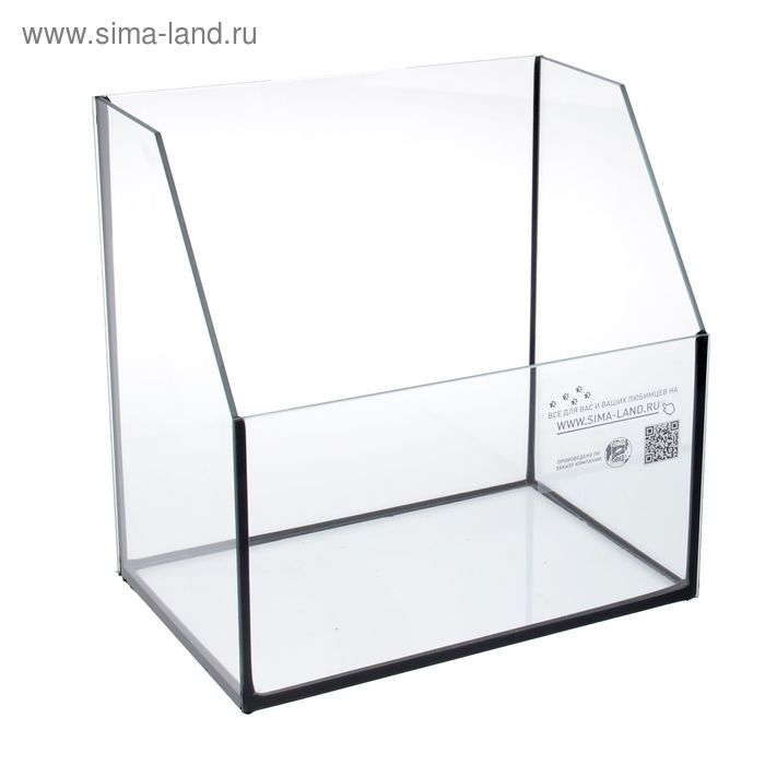 Палюдариум 15 л, 350х250х180/330 мм, толщина стекла 4 мм