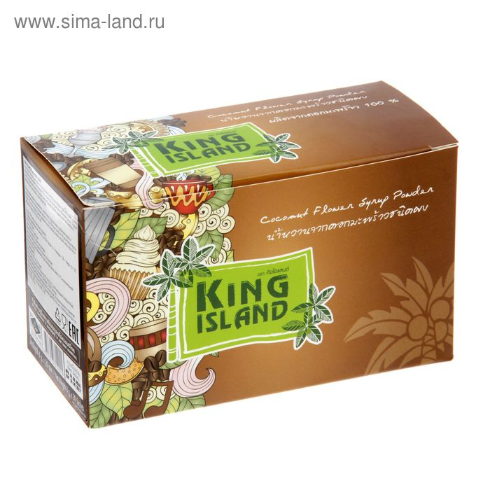 Кокосовый сахар  KING ISLAND (саше 8г х 20 шт)