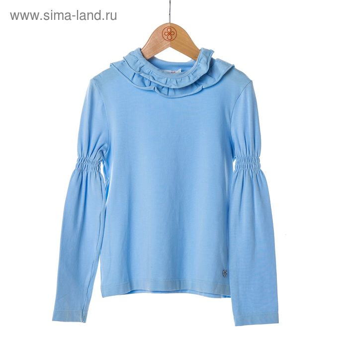 Джемпер-водолазка для девочки, рост 128 см, цвет голубой SC16-13-08-52