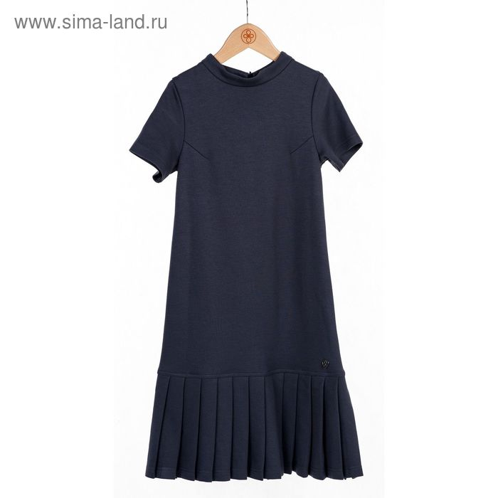 Платье для девочки, рост 134 см, цвет серый SC16-13-16-136