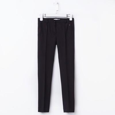 Брюки трикотажные для девочки, рост 140 см, цвет чёрный SC16-13-11-137