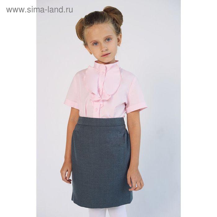 Блузка для девочки, рост 134 см, цвет розовый SC16-11-17-02