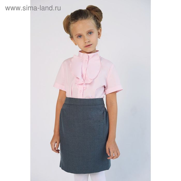 Блузка для девочки, рост 140 см, цвет розовый SC16-11-17-02
