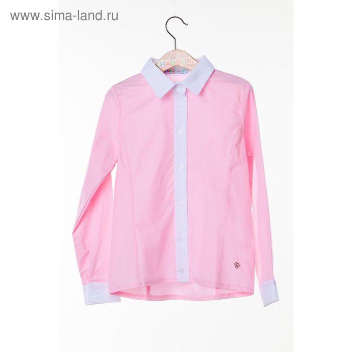Блузка для девочки, рост 122 см, цвет розовый SC16-11-17-106