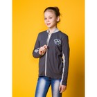 Джемпер для девочки, рост 158 см (84), цвет тёмно-серый/серый меланж (арт. Д 1944-П_П)