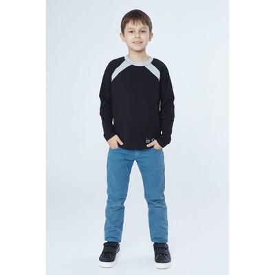 Джемпер для мальчика, рост 98-104 см (56), цвет чёрный/серый (арт. Д 08245/1-П_Д)