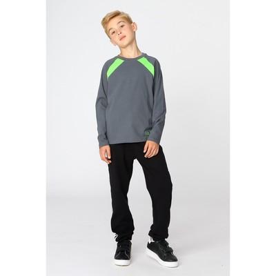 Джемпер для мальчика, рост 98-104 см (56), цвет тёмно-серый/зелёное яблоко (арт. Д 08245/1-П_Д)