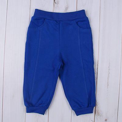 Брюки для мальчика, рост 74-80 см (48), цвет васильковый (арт. Д 07199/9_М)