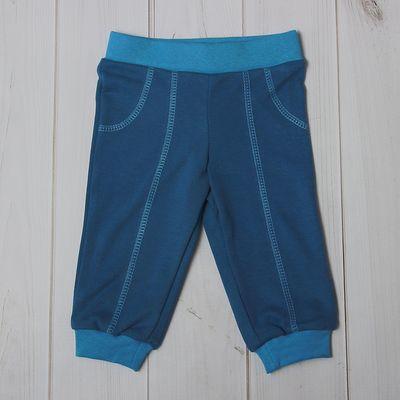 Брюки для мальчика, рост 68 см (44), цвет тёмно-синий/голубой (арт. Д 07188/9_М)