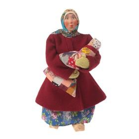Сувенирная кукла 'Марья в коротайке с ребёнком', МИКС Ош