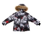 Куртка для мальчика, рост 116 см, принт, цвет серый (арт. М12-43_Д)