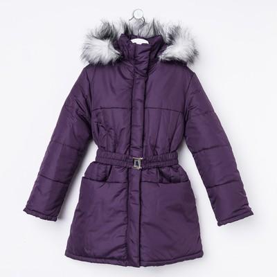 Пальто для девочки, рост 140 см, цвет фиолетовый (арт. Д21-41 _Д)
