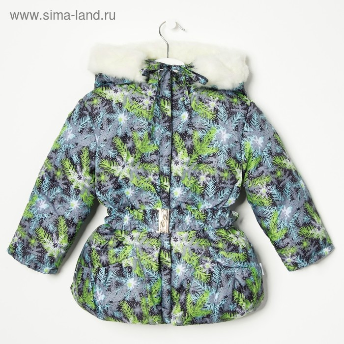 Куртка для девочки, рост 92 см, принт, цвет серый (арт. Д017-31_М)
