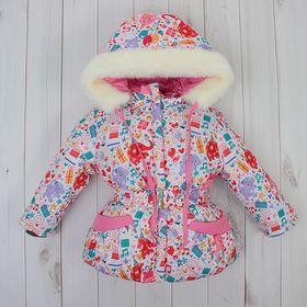Куртка для девочки, рост 92 см, принт, цвет розовый (арт. Д017-49_М) Ош