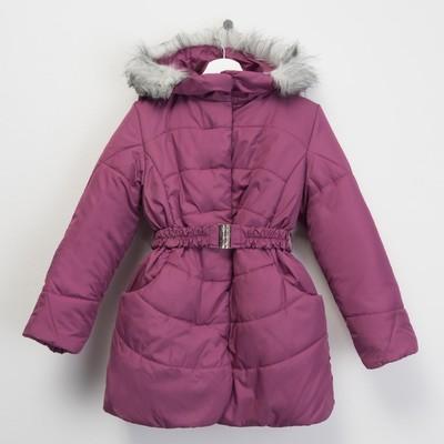 Пальто для девочки, рост 122 см, цвет розовый (арт. Д20-16_Д)
