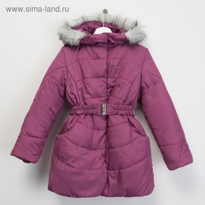 Пальто для девочки, рост 134 см, цвет розовый (арт. Д20-18_Д)
