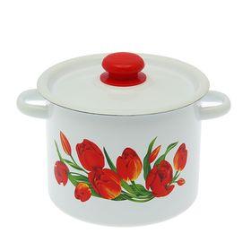 Кастрюля Сибирские товары «Тюльпаны» 3,5 л