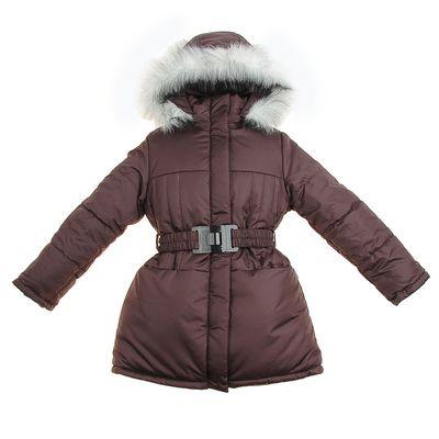 Пальто для девочки, рост 116 см, цвет шоколадный (арт. Д21- 1_Д)