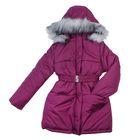 Пальто для девочки, рост 134 см, цвет фуксия (арт. Д21-28_Д)