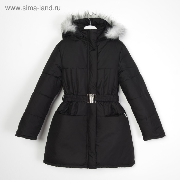 Пальто для девочки, рост 146 см, цвет чёрный (арт. Д21-12 _Д)