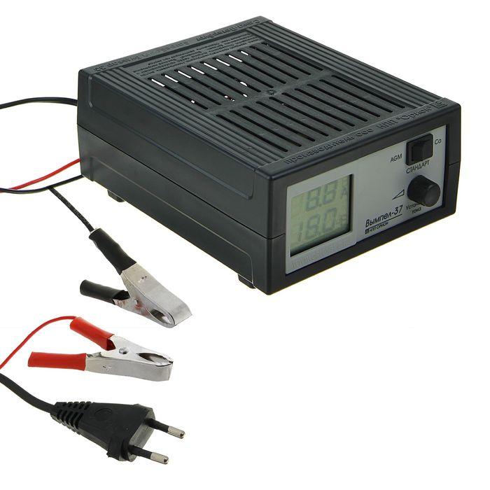 """Зарядное устройство АКБ """"Вымпел-37"""", 20 А, 12 В, сегментный ЖК индикатор"""