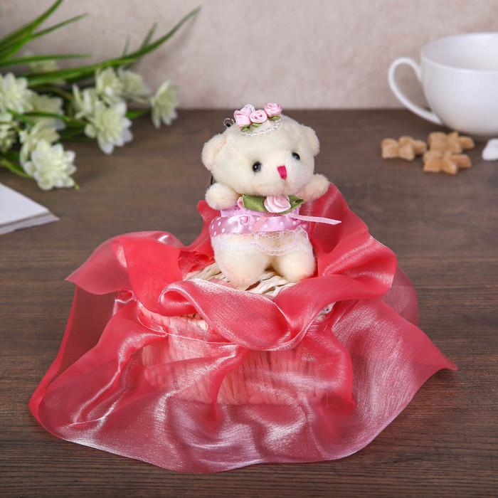 "Jewelry box ""Teddy bear in a red fringe"""