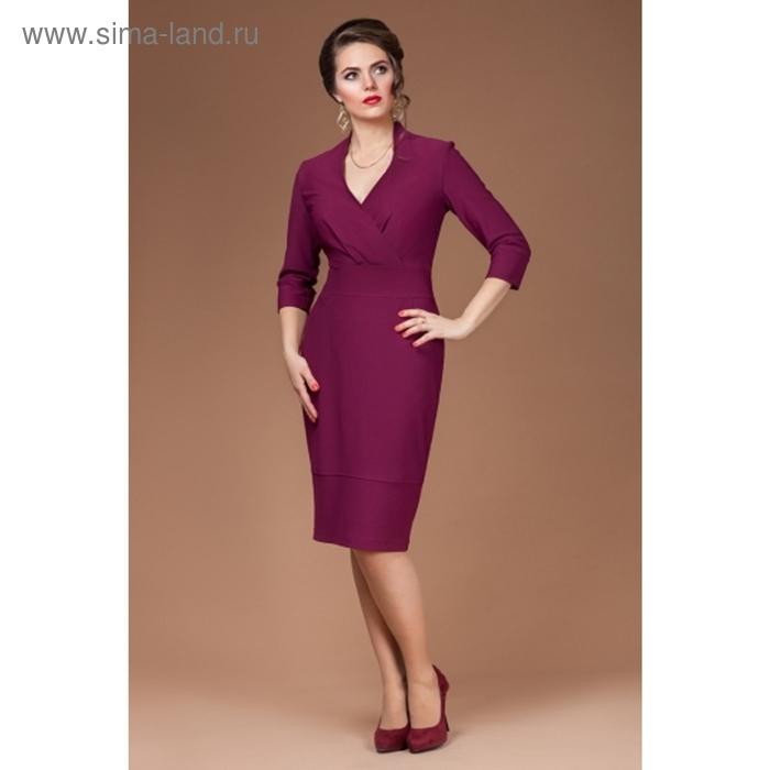Платье женское, размер 48, цвет бургунди П-387