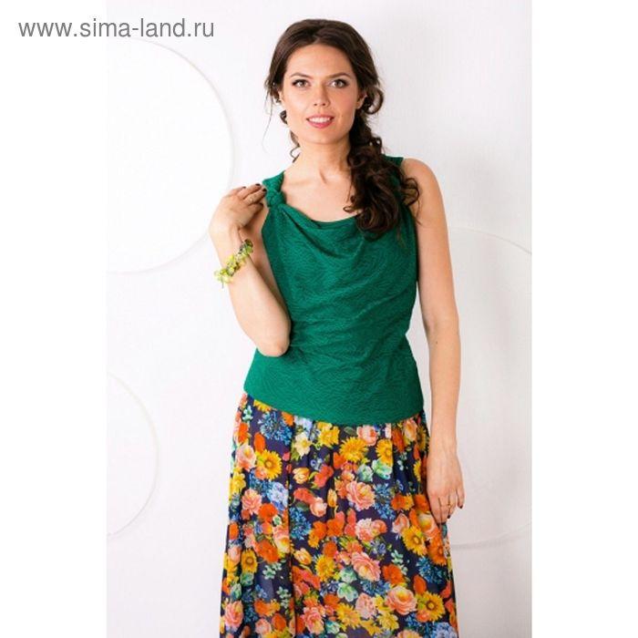 Блуза женская, размер 48, цвет зелёный Б-126