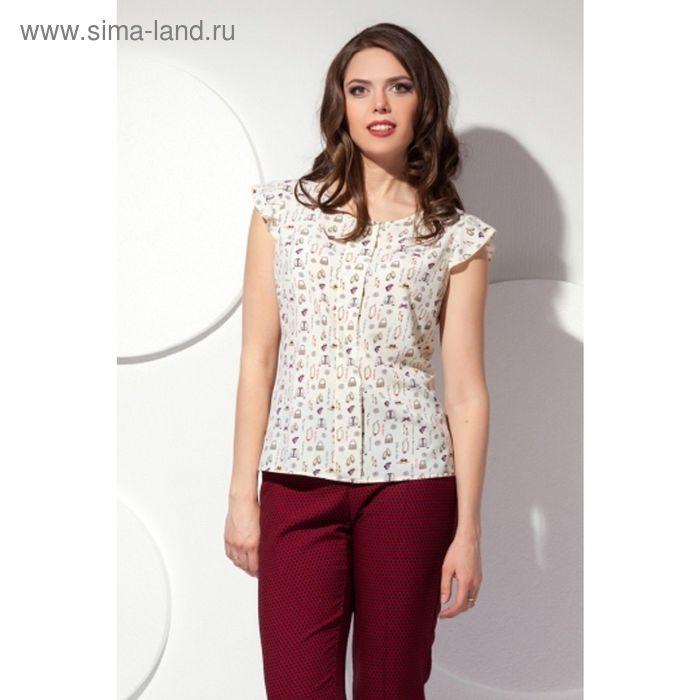 Блуза женская, размер 50, цвет светло-жёлтый Б-133/3