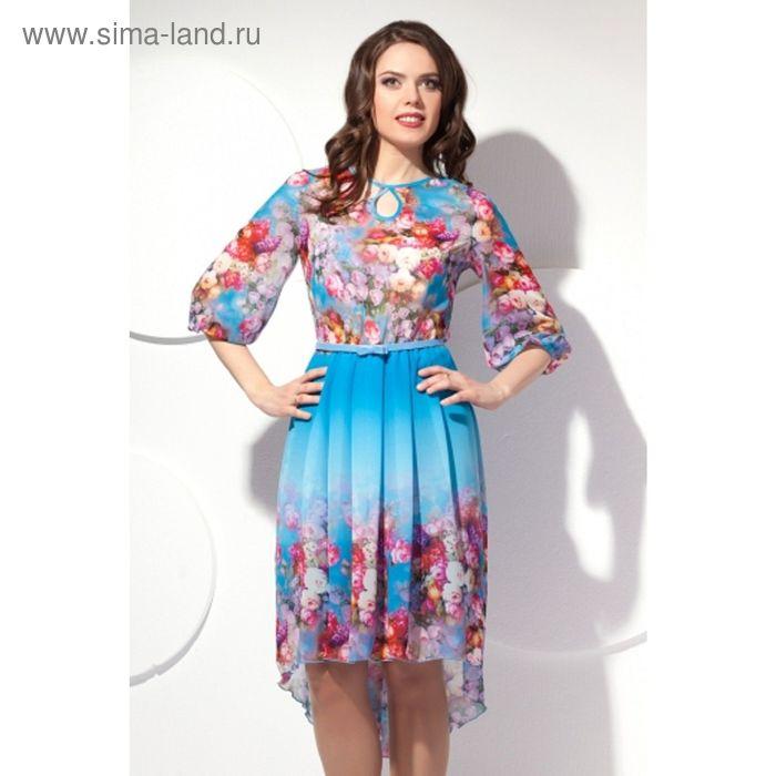 Платье женское, размер 48, цвет голубой П-429/1