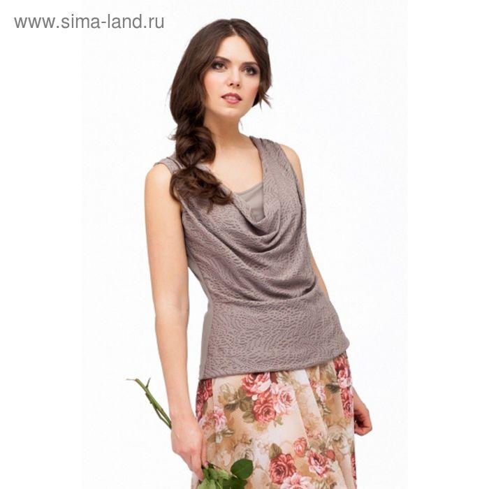 Блуза женская, размер 50, цвет песочно-бежевый Б-123/1