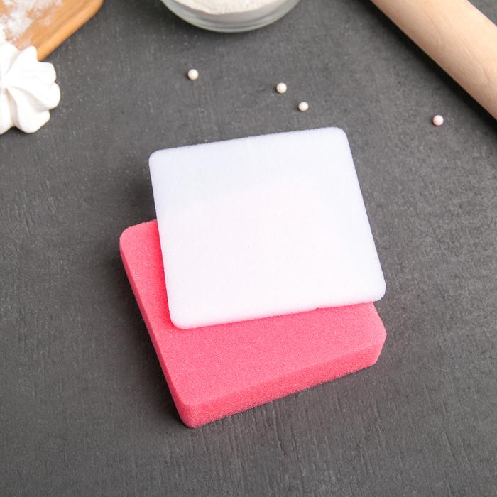 Набор матов для моделирования и сушки цветов из мастики 9,5х9,5х1,5 см, 2 шт, цвет МИКС