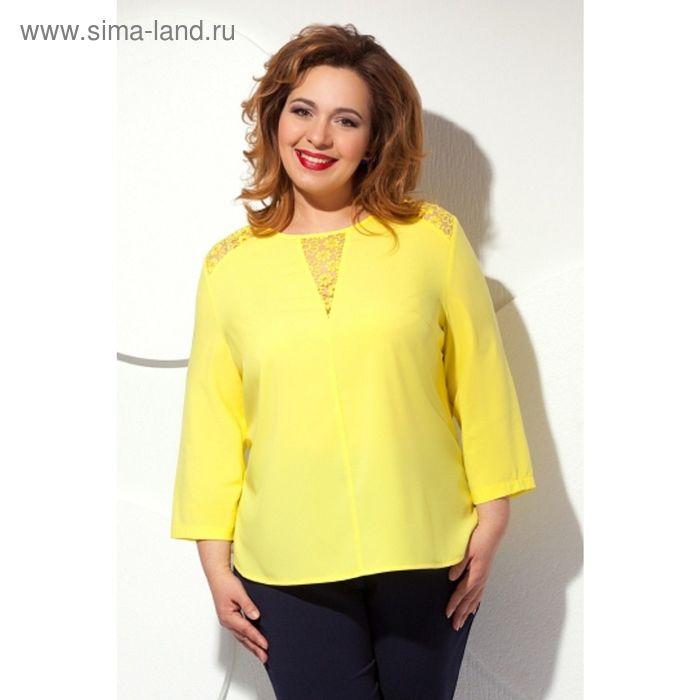 Блуза женская, размер 62, цвет жёлтый  Б-146/1