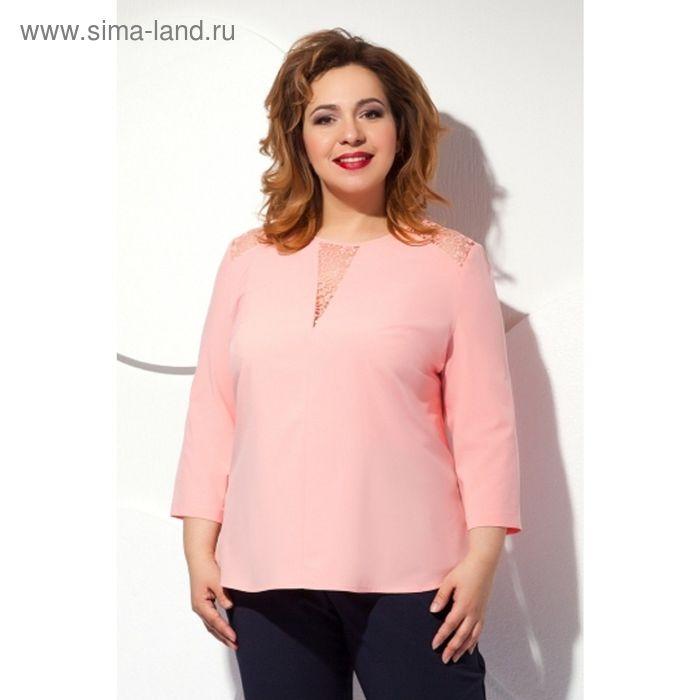 Блуза женская, размер 56, цвет персиковый  Б-146/3