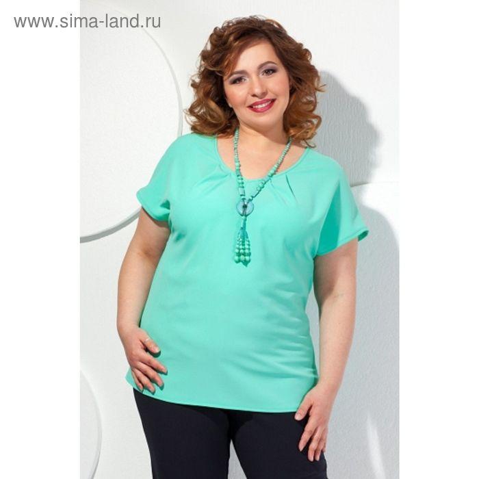 Блуза женская, размер 66, цвет мятный  Б-148