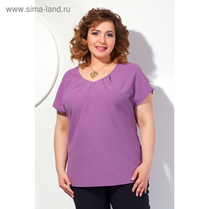 Блуза женская, размер 56, цвет сиреневый  Б-148/1