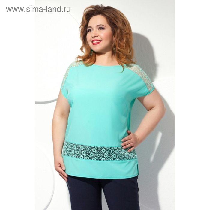 Блуза женская, размер 60, цвет мятный Б-151