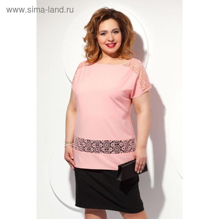 Блуза женская, размер 62, цвет персиковый Б-151/1