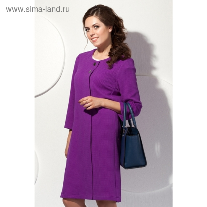 Пальто женское, размер 50, цвет пурпурный П-409/5