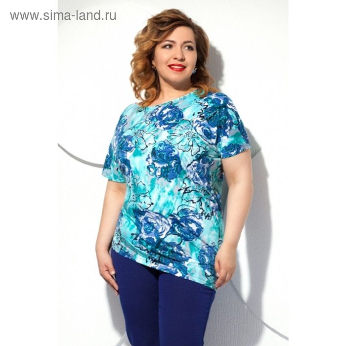Блуза женская, размер 56, цвет голубой Б-129/3